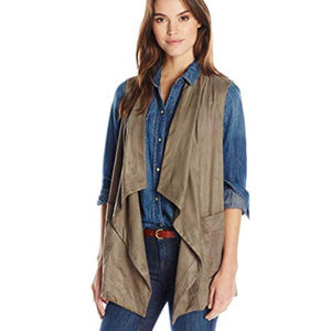 Jones New York Women's Draped Collar Vest Size L